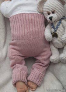 شیوه بافتن شلوار نوزاد
