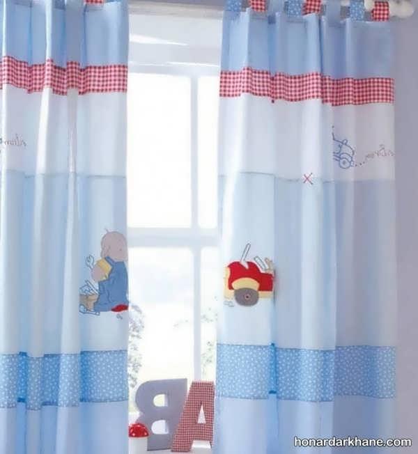 طرح های جدید و خاص پرده اتاق کودک