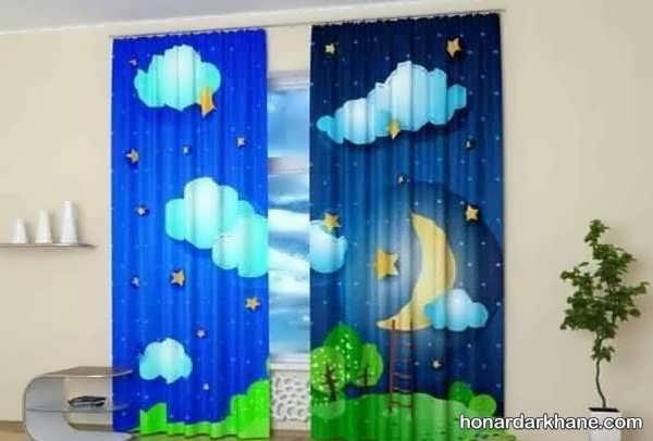 طرح های جالب و جذاب پرده اتاق کودک