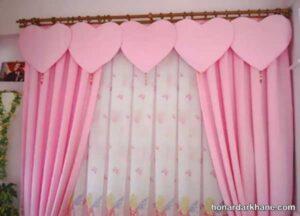 انواع طرح های دخترانه پرده اتاق کودک