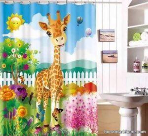 انواع طرح های جدید پرده اتاق کودک