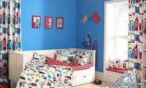 انواع طرح های جدید پرده اتاق نوزاد