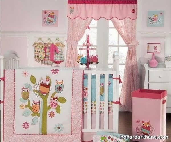 انواع پرده طرح دار جدید اتاق کودک