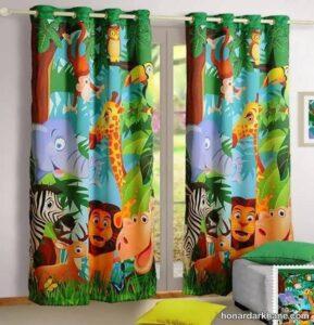 مدل های ساده و جذاب پرده اتاق کودک