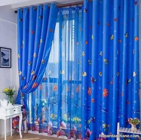 طرح های جدید و ساده پرده اتاق کودک
