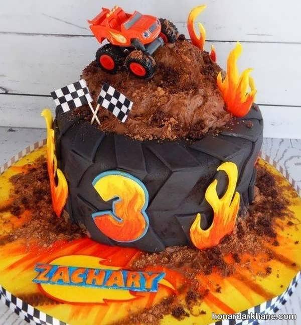 انواع طرح های فانتزی کیک تولد برای پسران