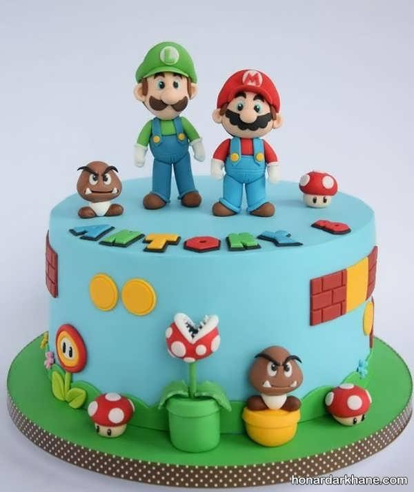 مدل های زیبا و جدید کیک تولد برای پسر بچه ها