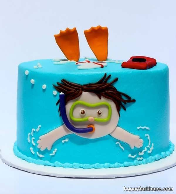 انواع کیک تولد با ایده های فانتزی برای پسران