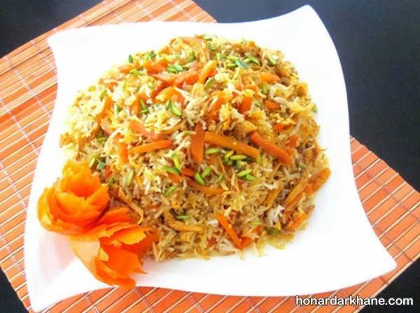 انواع تزیین زیبا و جذاب هویج پلو