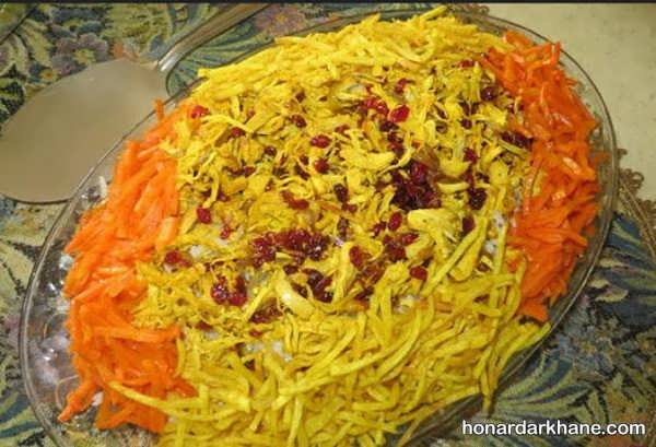 انواع ایده های جدید زیبا سازی هویج پلو