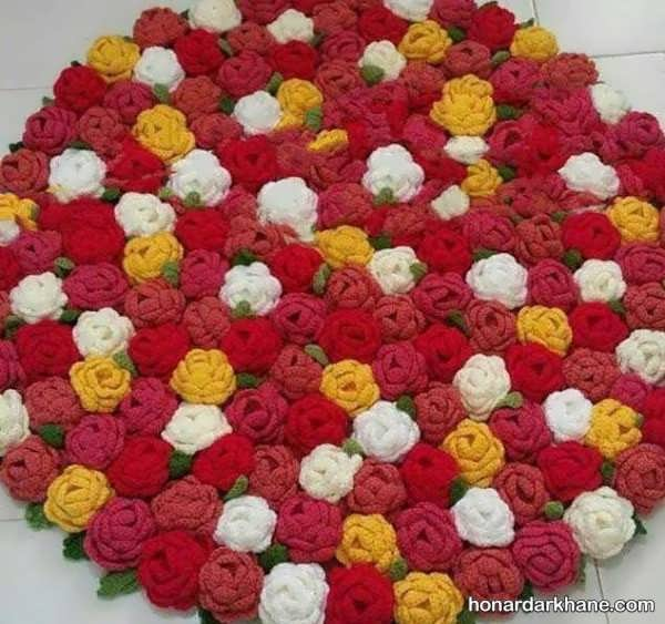نحوه ساخت گل بافتنی با قلاب