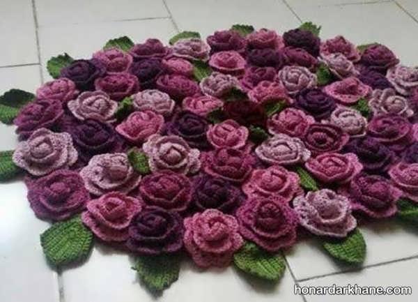 فراگیری بافت گل با قلاب