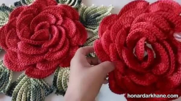 طریقه درست کردن گل با قلاب و کاموا