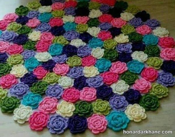 نحوه درست کردن گل بافتنی با قلاب