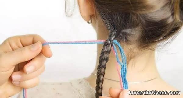 آموزش آرایش مو با کاموا