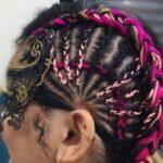 نحوه بافت مو با کاموای رنگی