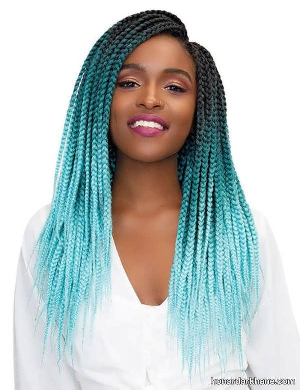 مراحل بافتن مو با کاموای رنگی