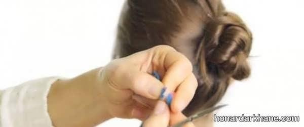 نحوه تزیین مو با کاموای رنگی