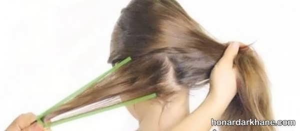 نحوه تزیین جذاب مو با کاموا