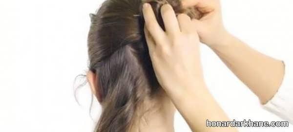 طریقه بافتن مو با کاموا