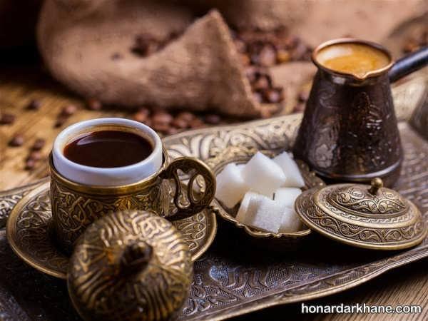 نحوه دم کردن قهوه ترک در خانه