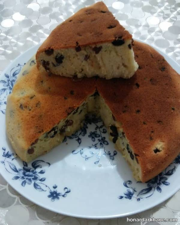 نحوه تهیه کیک کشمشی عالی و بی نظیر