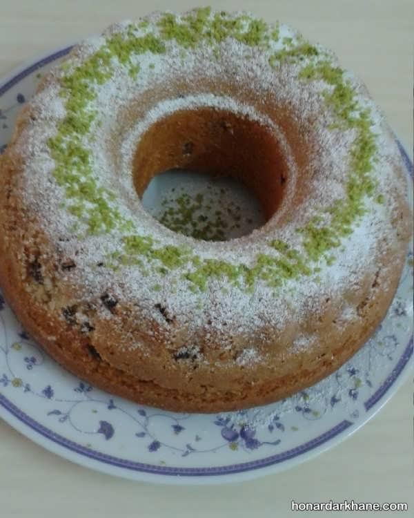 طرز پخت کیک ساده کشمشی
