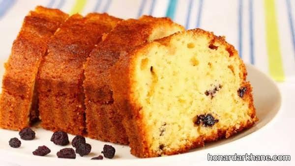 نحوه پخت کیک کشمشی به روشی ساده