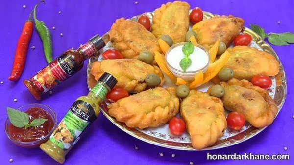 طرز تهیه پیراشکی مرغ و قارچ