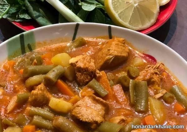 روش تهیه خورش لوبیا سبز عالی و لذیذ