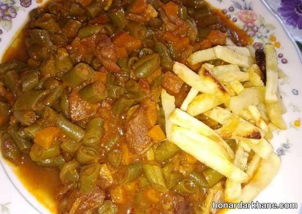 دستور تهیه خورش لوبیا سبز به روشی ساده