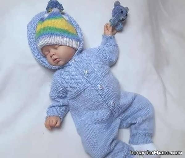 انواع سرهمی بافتنی نوزاد در طرح های جالب