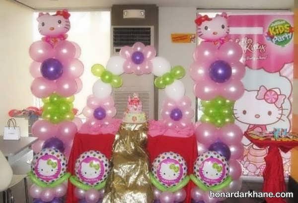 انواع دیزاین خاص جشن تولد با طرح کیتی