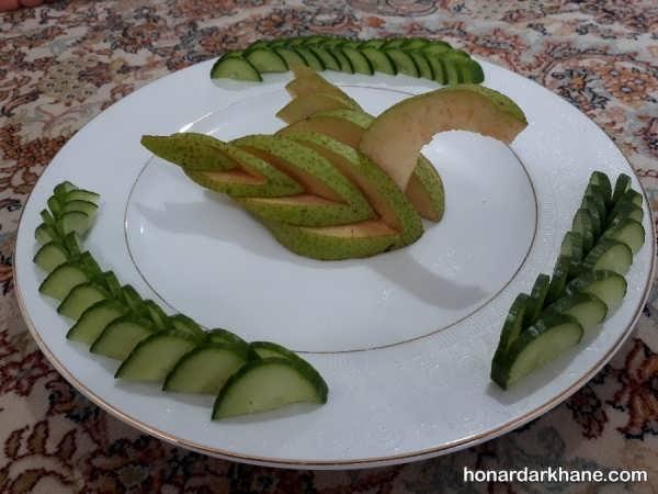 انواع میوه آرایی زیبا و جذاب گلابی