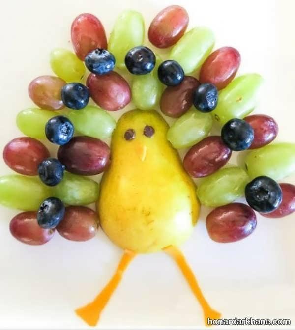 انواع میوه آرایی جالب گلابی