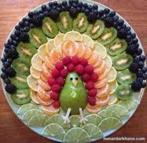 انواع میوه آرایی زیبا و شیک گلابی