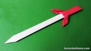 شیوه درست کردن شمشیر با کاغذ