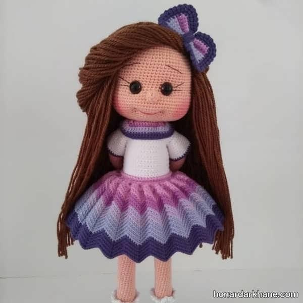 آموختن بافت عروسک دختر زیبا