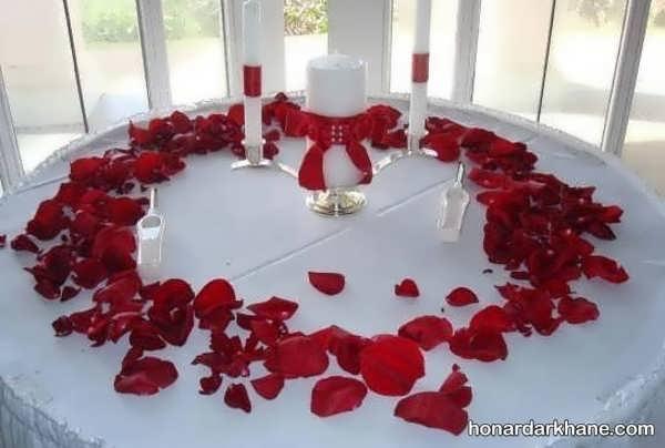 انواع تزیینات جالب میز سالگرد ازدواج
