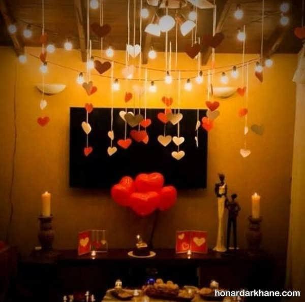 انواع برگزاری سالگرد ازدواج با طرح قلب