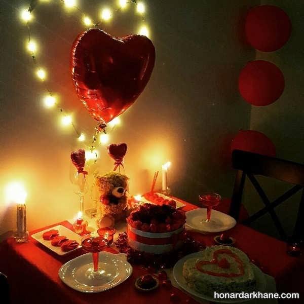 انواع برگزاری سالگرد ازدواج با تم قلبی