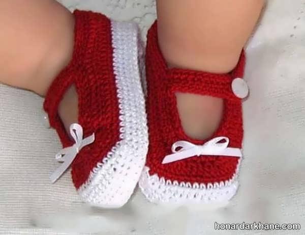 نحوه بافتن جوراب کودک به روشی ساده