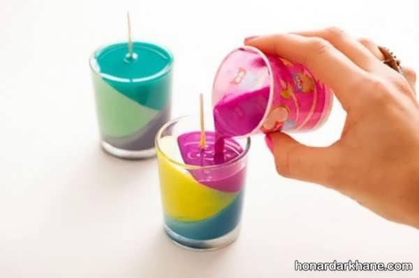 شیوه ساخت شمع با قالب