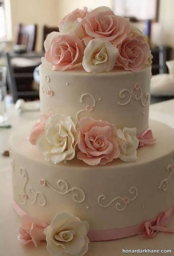 مدل های جذاب تزیین کیک با گل