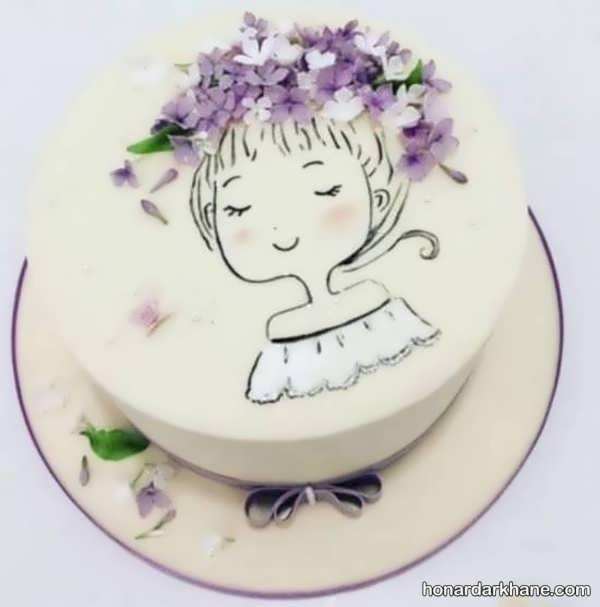 مدل های شیک دکوراسیون کیک با گل