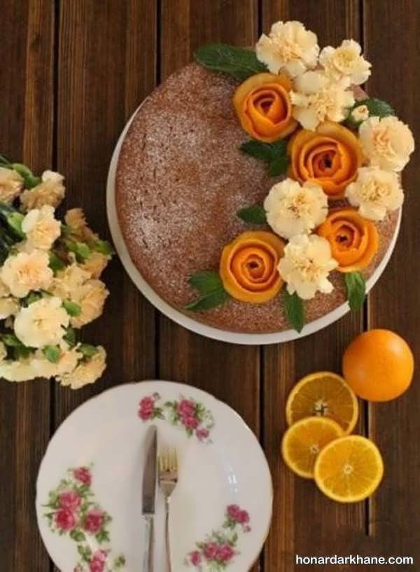 انواع دیزاین خلاقانه کیک با گل
