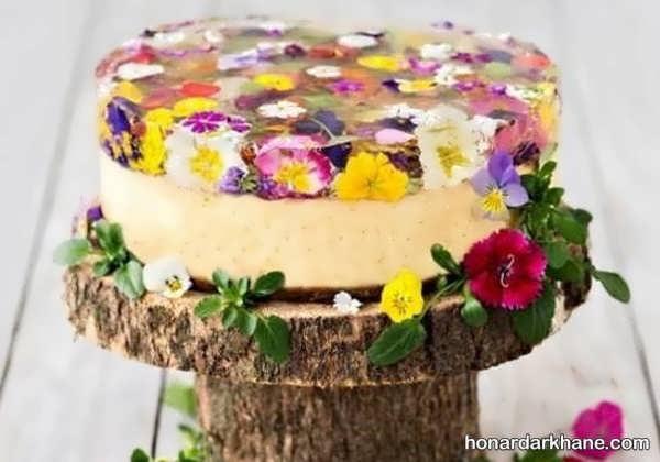 انواع مدل های زیبا و جالب تزیینات کیک تولد با گل