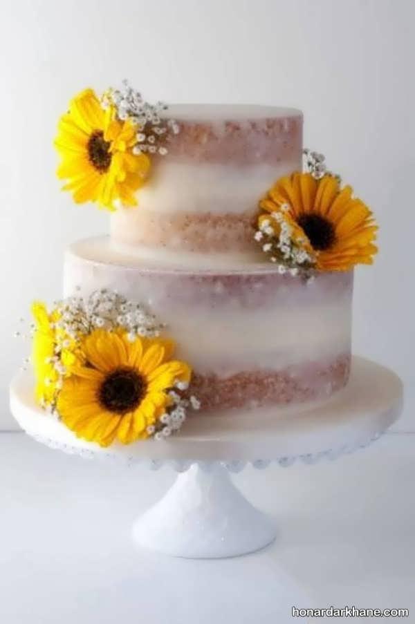 انواع تزیین شیک و خلاقانه کیک با گل