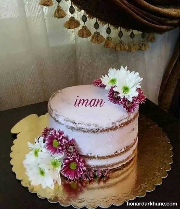 انواع مدل های جذاب دیزاین کیک با گل