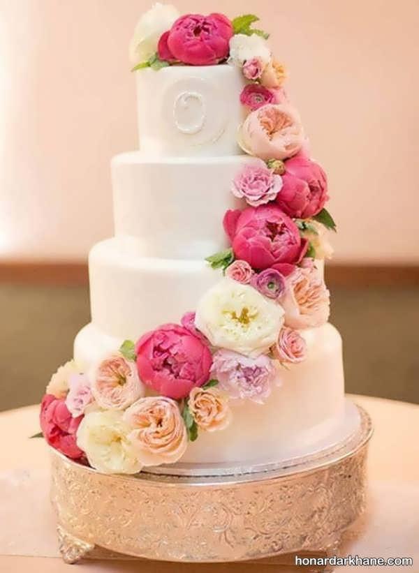 انواع دیزاین شیک و جالب کیک با گل